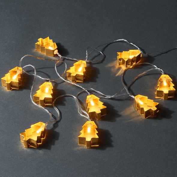 X-MAS LIGHTS Lichterk. Baum Gold 10 L