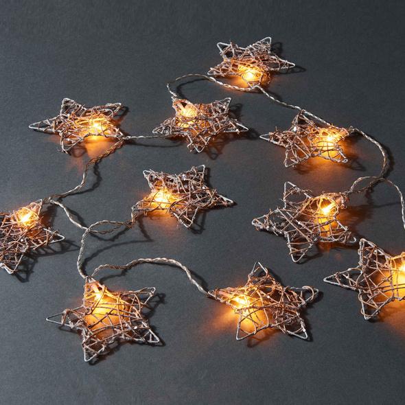 STARSHINE Lichterkette Rattanstern 10L
