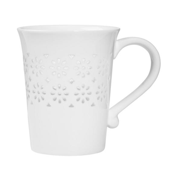 WHITE XMAS Tasse transp. Muster Schneefl