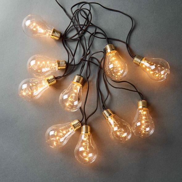 BULB LIGHTS Glühbirnenlk. black 10L