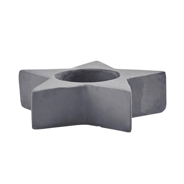 X-MAS Teelichthalter Stern, Zement