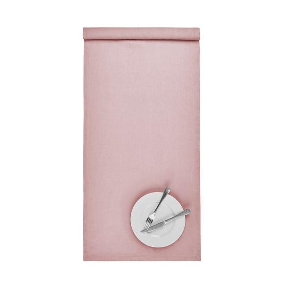 RIGA Leinen Tischläufer 50x160cm rosa