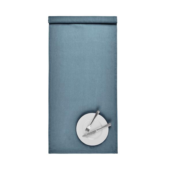 RIGA Leinen Tischläufer 50x160cm blau