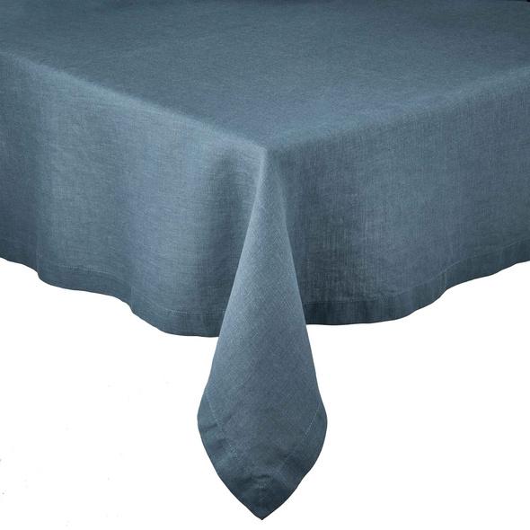 RIGA Leinen Tischdecke 160x160cm blau