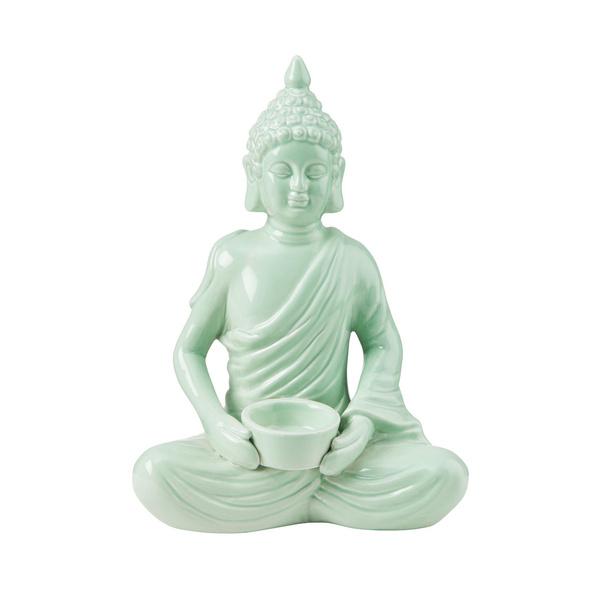 BUDDHA Buddha mit Teelichthalter, mint