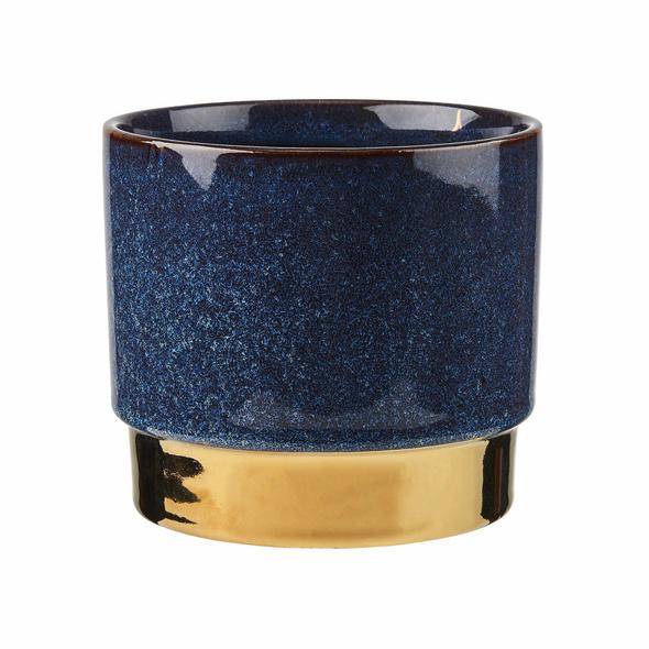 GOLDEN TOUCH Blumentopf Ø15cm, blau