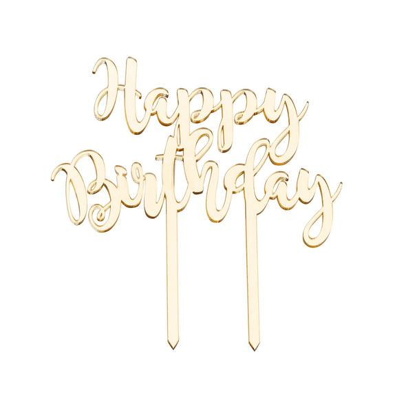 CELEBRATION Tortendeko Happy Birth. gold