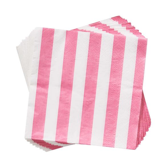 APRÈS Papierserviette Streifen rosa