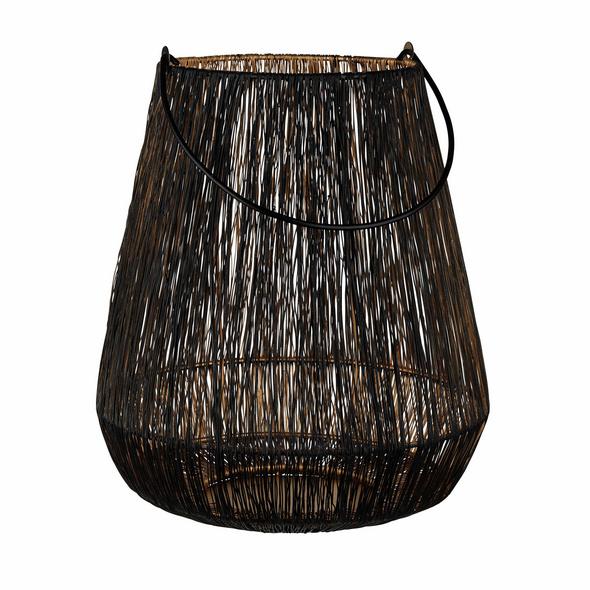 YOKO Draht Laterne 30cm, schwarz