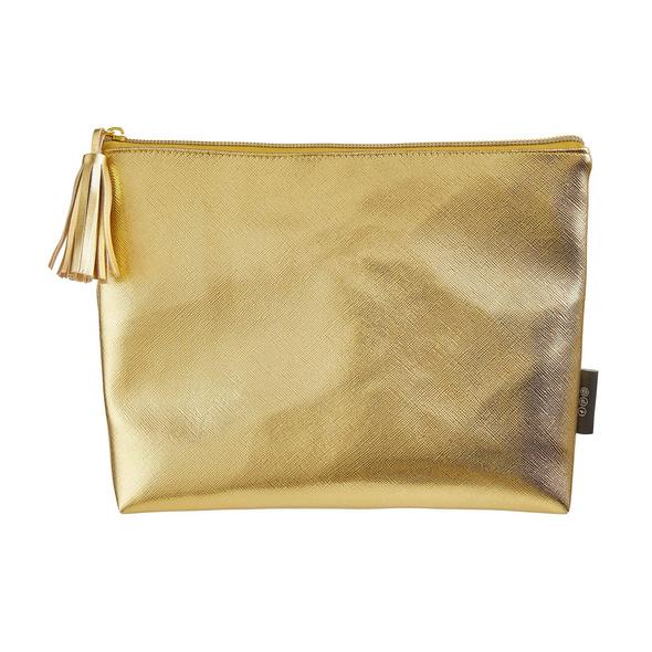 STROBE Kosmetiktasche gold