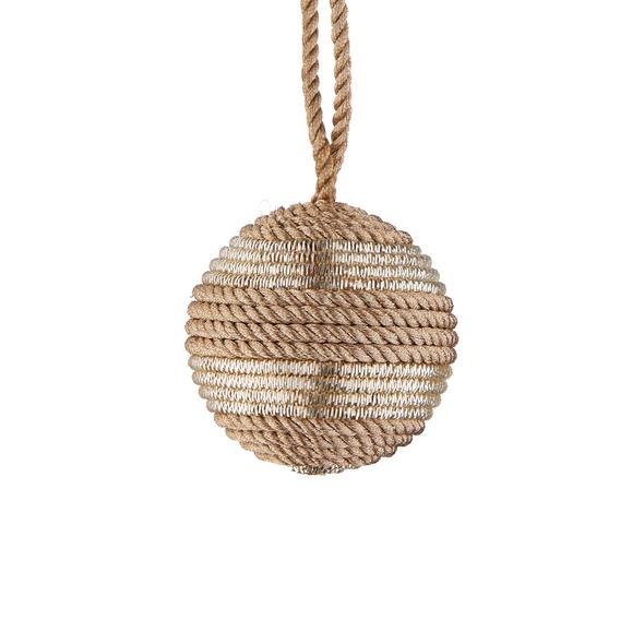 HANG ON Kordel Kugel 6cm,gold Lurex