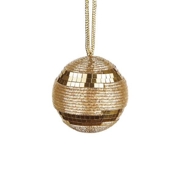 HANG ON Kordel Kugel 6cm,gold Pailetten