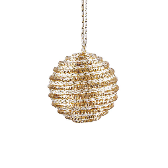 HANG ON Kordel Kugel 6cm,gold Streifen