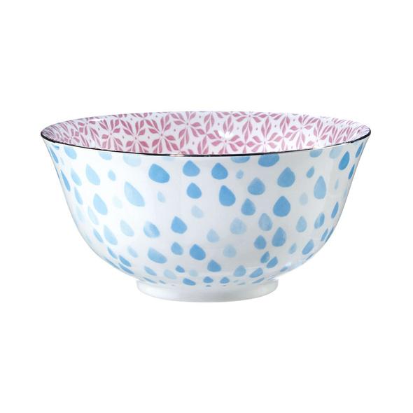 ORNAMENTS Schale blau/pink 520ml, silber