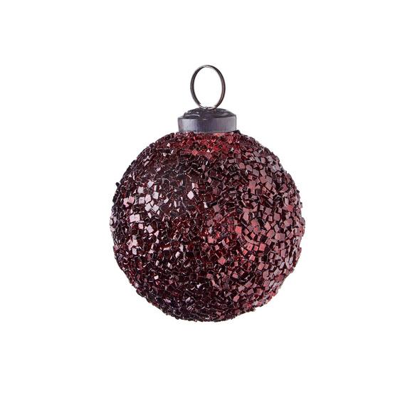 HANG ON Weihnachtskugel 7cm rot crackle