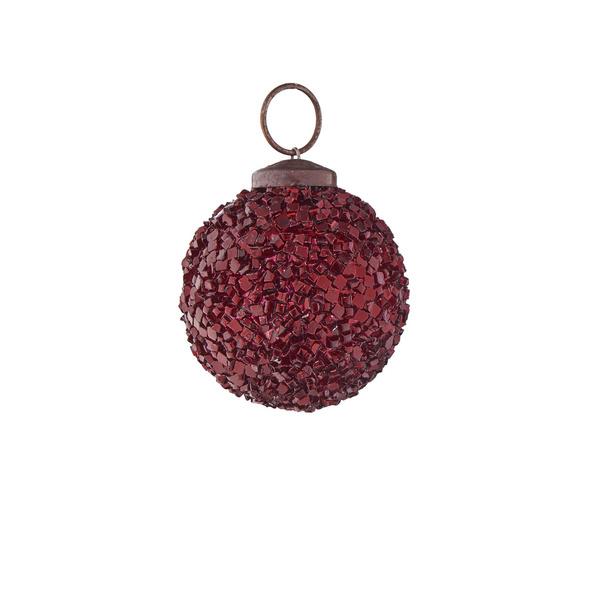 HANG ON Weihnachtskugel 5cm rot crackle