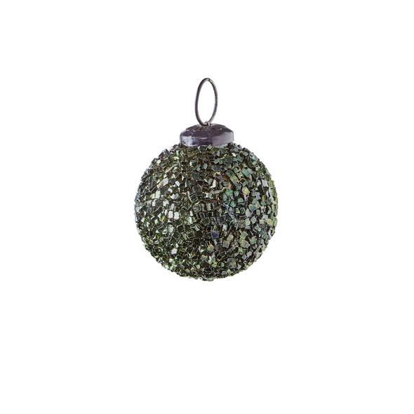 HANG ON Weihnachtskugel 5cm grün crackle