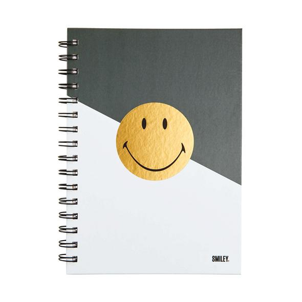 SMILEY Notizbuch Smiley gold