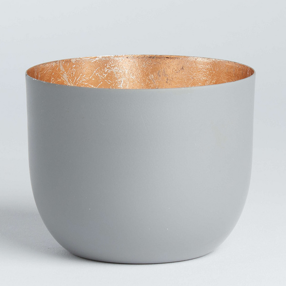 AURORA Metall Teelichthalter Ø10 d´grau