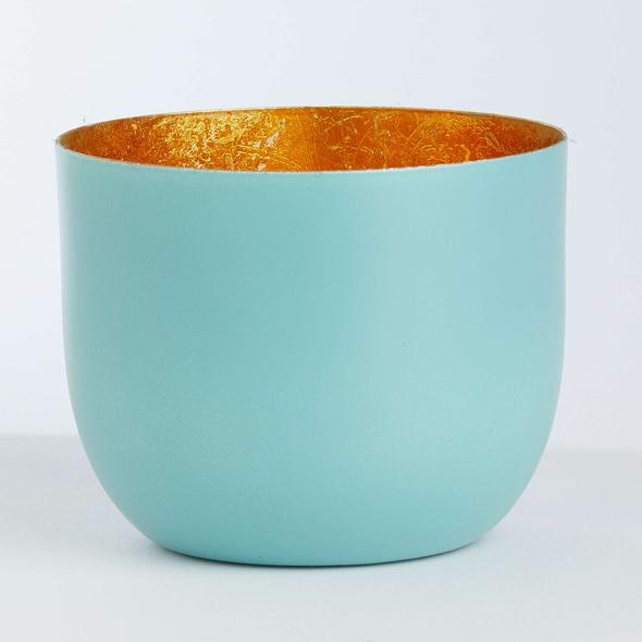 AURORA Metall Teelichthalter Ø10 aqua