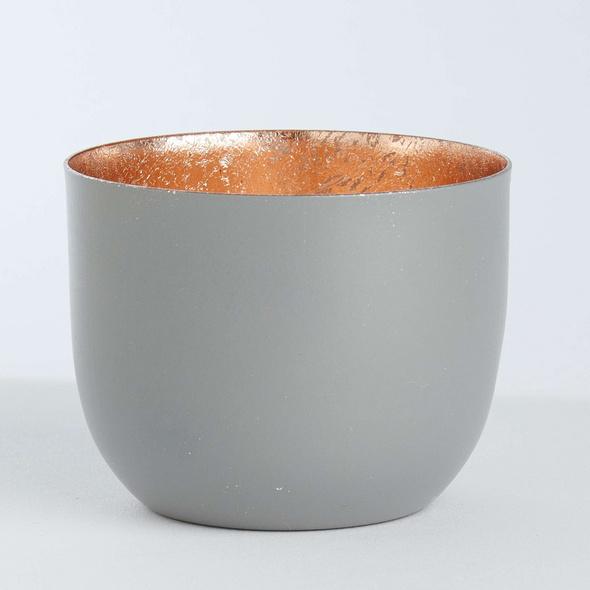 AURORA Metall Teelichthalter Ø7 d´grau