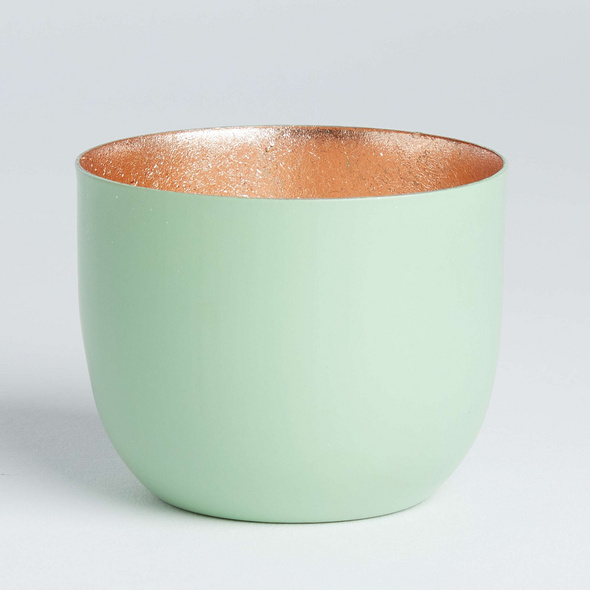 AURORA Metall Teelichthalter Ø7 mint