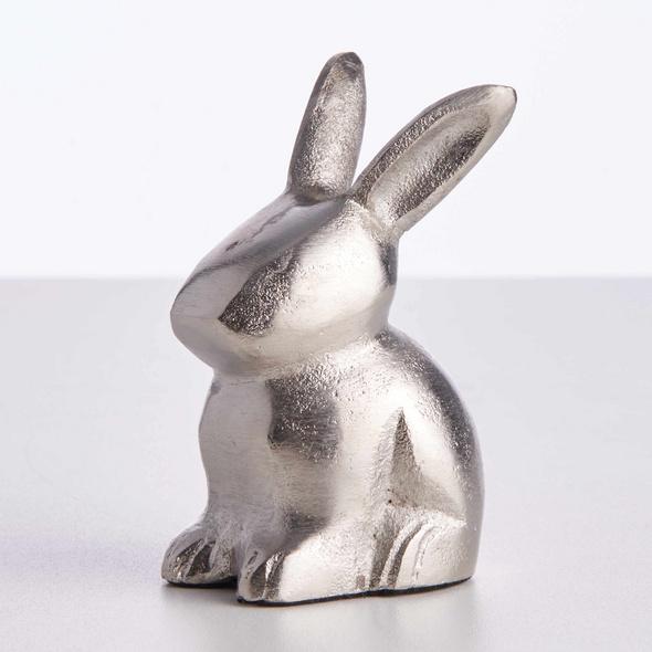 EASTER Deko Häschen Metall 10cm, silber