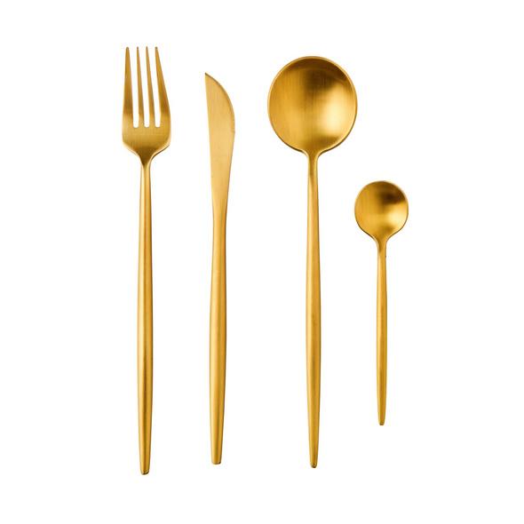 STILETTO Besteck 4er Set gold matt