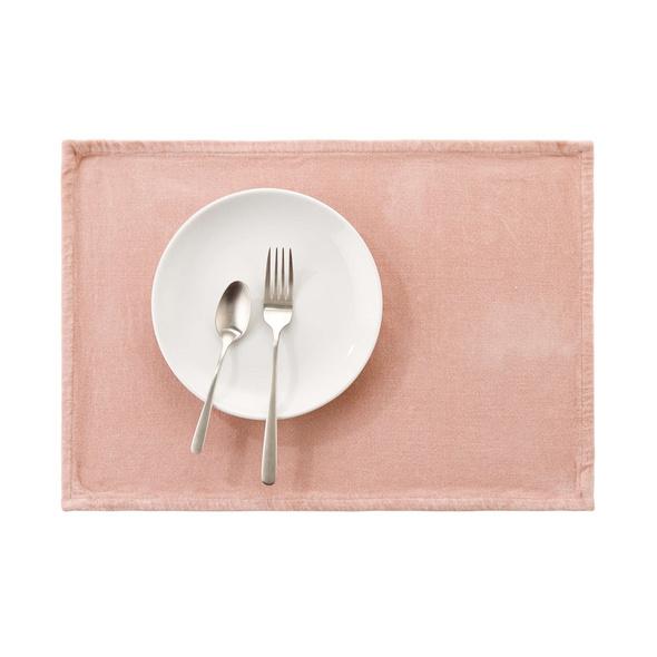 SUNSET Platzset, Baumwolle, rosa