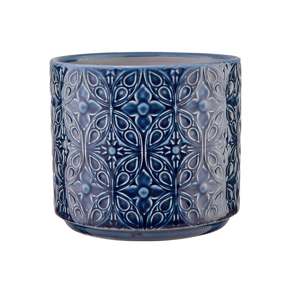 BLUE DAY Blumentopf Ø12cm Ornamente blau