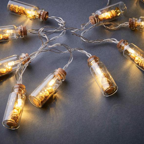 BUDDHA Lichterkette im Glas