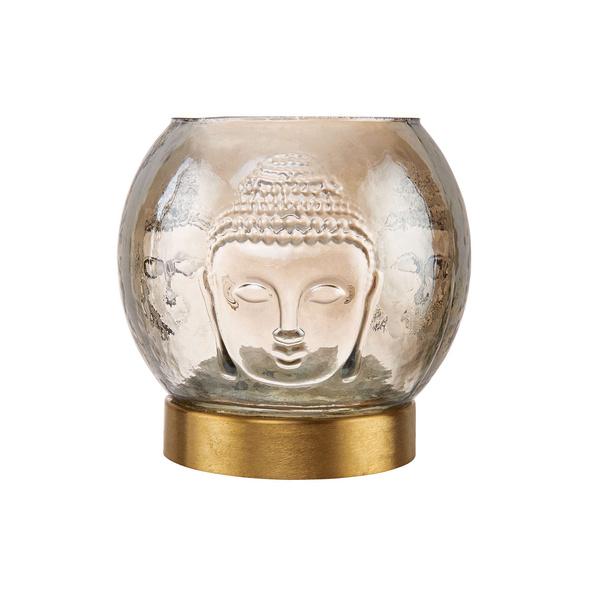 BALI Teelichthalter mit Buddhamotiv