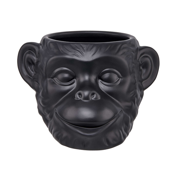 DARK JUNGLE Keramik Blumentopf Affe