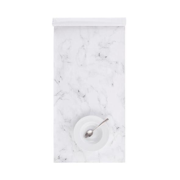 WHITE MARBLE Tischläufer, 160x50cm
