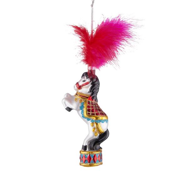 HANG ON Glas Ornament Zirkus Pferd