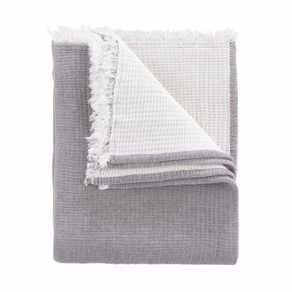 COCOON Decke,170x130 cm,dunkelgrau,creme
