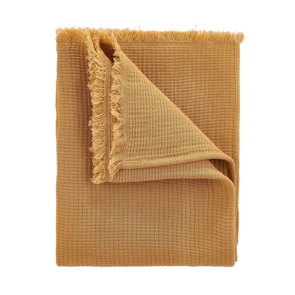 COCOON Decke, 170x130 cm, senfgelb