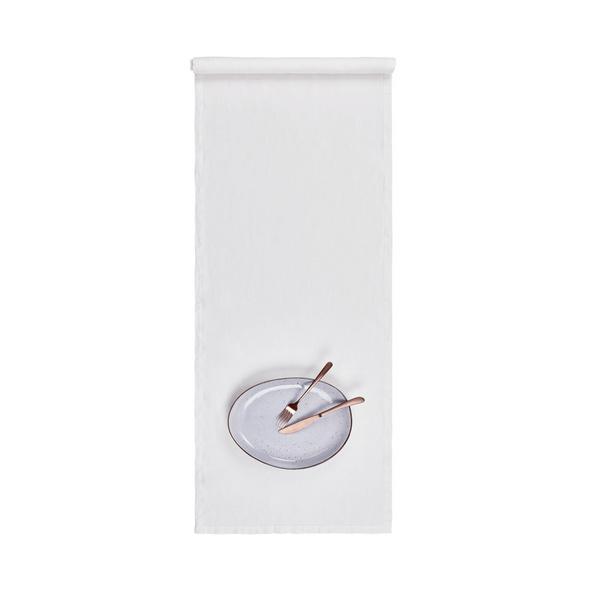RIGA Leinen Tischläufer 160x50 cm, Weiß