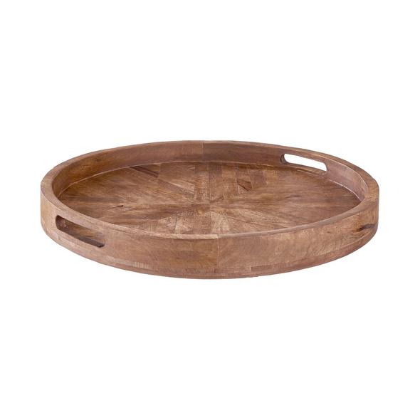 MANGO DAYS Holztablett rund Ø 50 cm