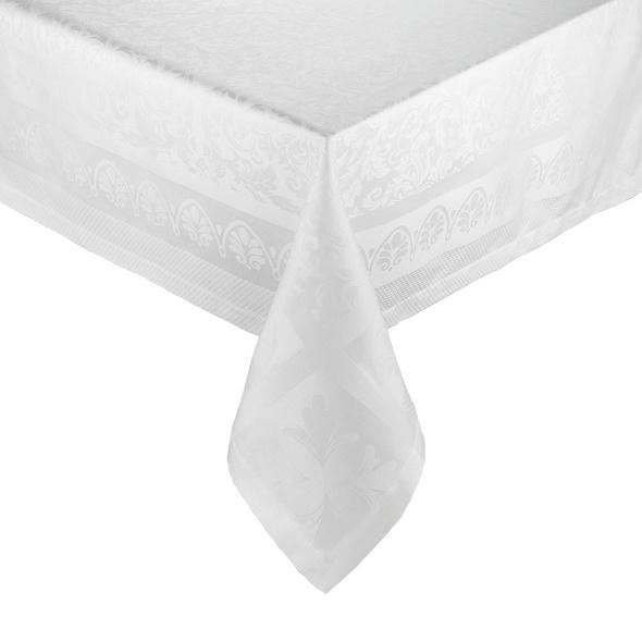 ROYAL DAMASK Tischdecke, 160x160 cm,weiß