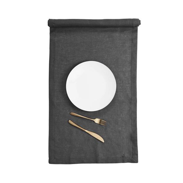 PLAIN & NOBLE Tischläufer 150x50 cm,anth