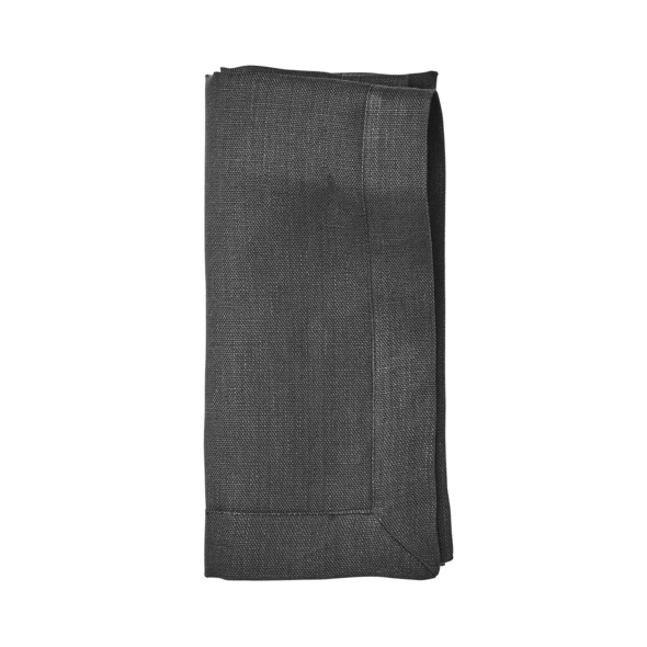 PLAIN & NOBLE Serviette 45x45cm,anthrazi