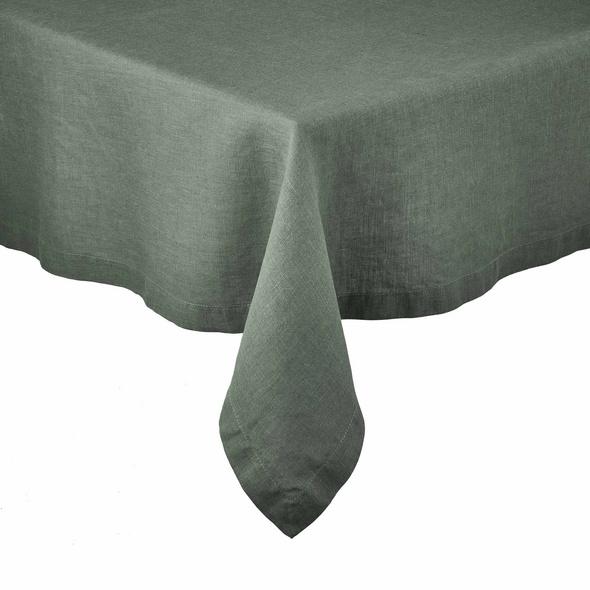 RIGA Leinen Tischdecke 160x160cm, grün