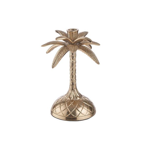 GOLDEN NATURE Kerzenhalter Palme 23cm