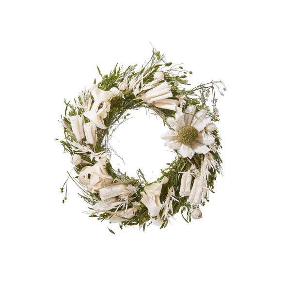 FLOWER MARKET Trockenblumenkranz mini bl