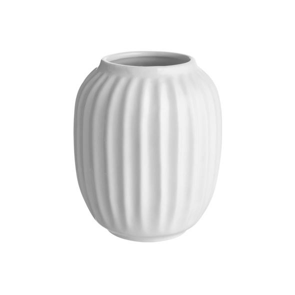 LIV Keramik Vase Ø10 H12,5cm, weiß