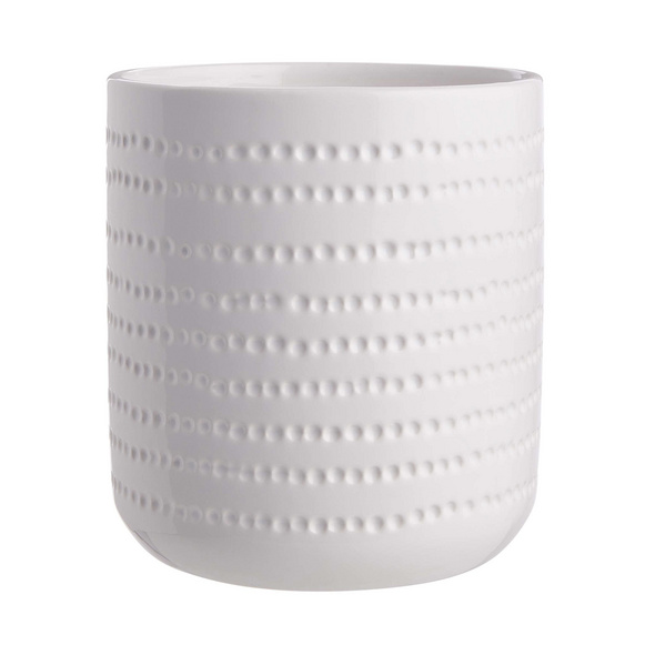 DOTS Blumentopf Ø15cm H18cm weiß