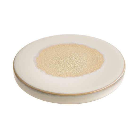 COSMOS Keramik Untersetzer weiß