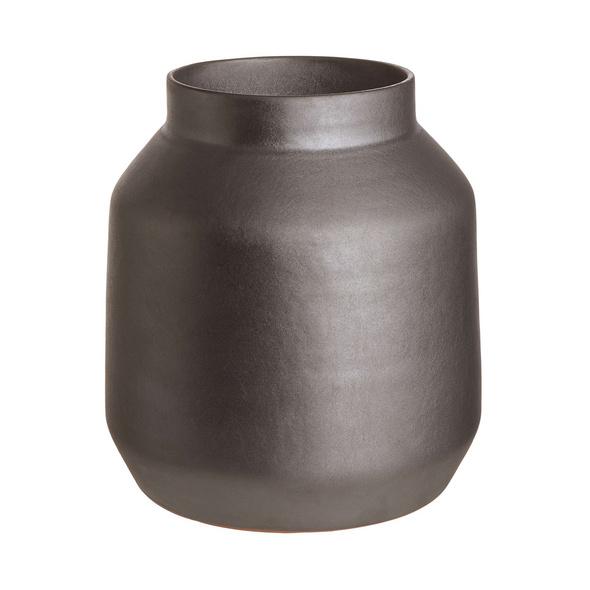 MARTA Keramik Vase 24,5cm, schwarz