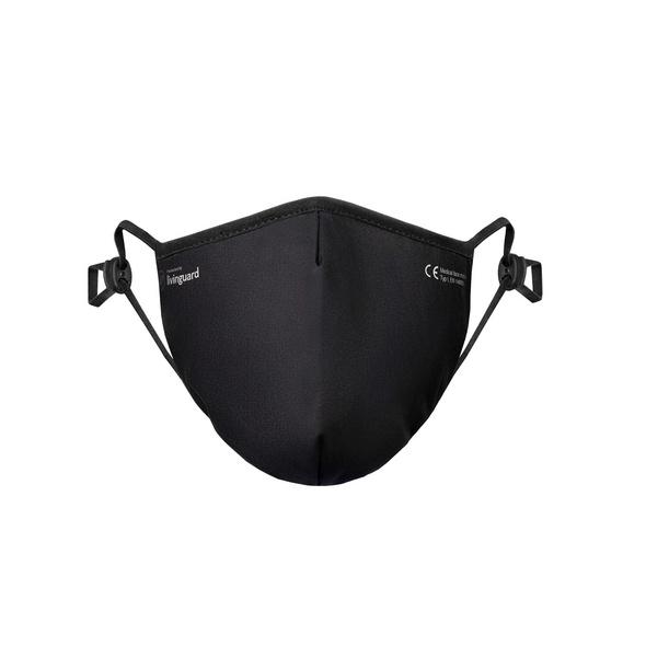 Livinguard Maske Pro, schwarz, Größe M